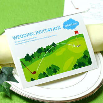 Templates with name put products and sports' Golf invitations handmade set (in mask) and wedding invitations