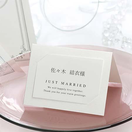 [即出荷]《10名分》席札 手作りセット ヴェリテ /結婚式 ペーパーアイテム テンプレート付
