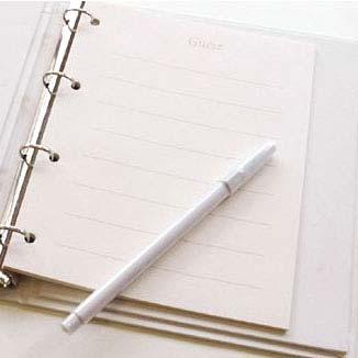 Registration pens (1 piece), correspondence, wedding guest book guestbook