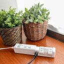 2色カラー 電源タップ 回転 TAPKING USB タップキング ホワイト ネイビー おしゃれ インテリア デザイン AC4個口 2.4A 急速充電 USB 2ポート 雷サージガード コード長 2m