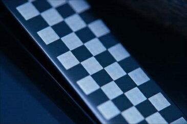 チェック 格子模様 ブラック マット仕上げ メンズ ステンレス お札 財布 マネークリップ