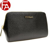 【ボーナスセール】フルラ FURLA ELECTRA M COSMETIC CASE ポーチ ブラック レザー 822984 【YDKG-m】/【Luxury Brand Selection】