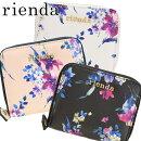 リエンダrienda【選べる3色】当店限定花柄二つ折りラウンドファスナー財布r03708212