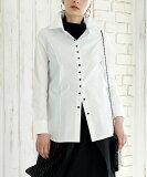 ストレッチブラウス Mサイズ Lサイズ 長袖 シャツ ブラウス 白シャツ 白ブラウス 大きめ 30代 40代 50代 レディース プレゼント ミセス ファッション 婦人服 大人 otona