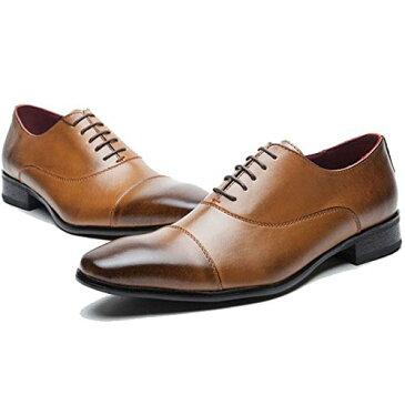 ビジネスシューズ メンズ 本革 紳士靴 革靴 レザーシューズ ウイングチップ ストレートチップ 内羽根 通気性