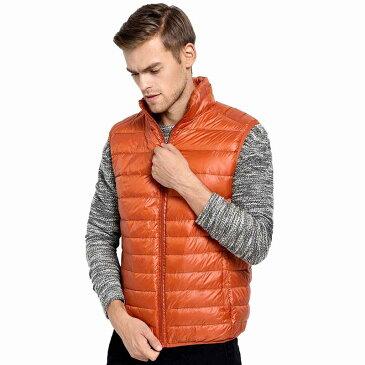 ダウンベスト メンズ ダウンジャケット ノースリーブ ハイネック ジレ ウィンターベスト 紳士用 秋冬 暖かい 防寒 ウォームコート