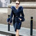 ♪レディースファッション 贅沢フォックスファー ダウンコート セレブ ...