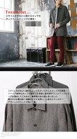 ステンカラーコートメンズロングコートツイード素材メンズコートハーフコートメンズファッションアウター秋冬キレカジトラッドフォーマルビジカジ
