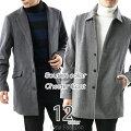チェスターコート,ステンカラーコート,メルトンウール,メンズ,コート,メンズファッション