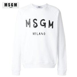 MSGMエムエスジーエム2018年春夏レディースロゴスウェットシャツホワイト