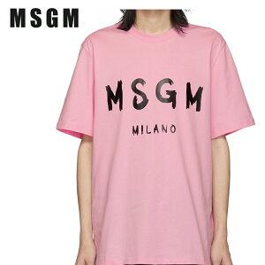 MSGMエムエスジーエムピンクアーティストロゴTシャツ191443M213020