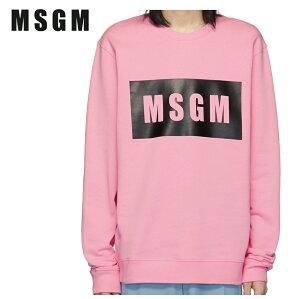 MSGMエムエスジーエムピンクボックスロゴスウェットシャツ191443M204007