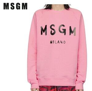 MSGMエムエスジーエムピンクアーティストロゴスウェットシャツ191443M204012