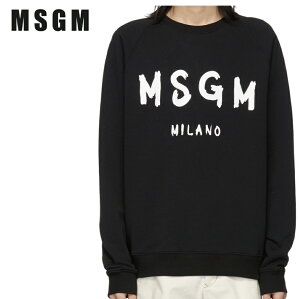 MSGMエムエスジーエムブラックアーティストロゴスウェットシャツ191443M204004