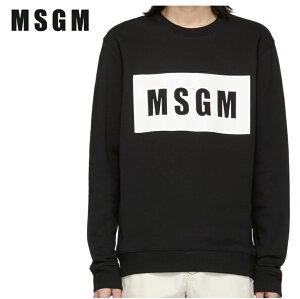 MSGMエムエスジーエムブラックボックスロゴスウェットシャツ191443M204005