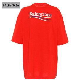 BALENCIAGAバレンシアガ2018年春夏OversizedcottonpoliticalcampaignsT-shirtRed