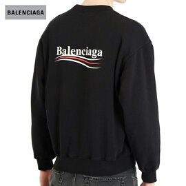 BALENCIAGAバレンシアガ2018年春夏Logo-printcotton-blendsweatshirtFeaturingDemnaGvasaliaブラック