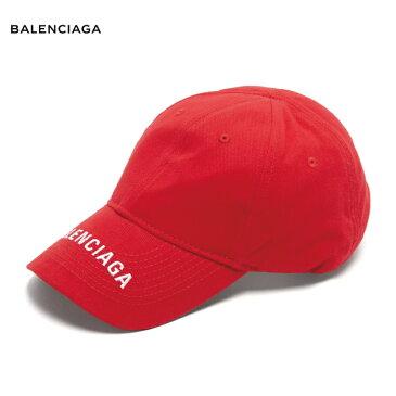 BALENCIAGA バレンシアガ Logo-embroidered cotton cap 帽子 キャップ レッド 2018-2019年秋冬