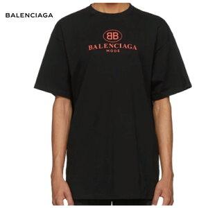 BALENCIAGAバレンシアガ182342M213002ブラックModeロゴTシャツトップス2019年春夏