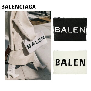 BALENCIAGA羊皮小包手拿包黑色/白色