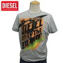 [DIESEL]ディーゼル 2011年春夏新作 メンズ 半袖ペンキプリントTシャツ T-PLOK-R グレー×オレンジ