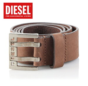 DIESEL�ǥ�������2016SS2016ǯ�ղƿ���٥��BIT�ӥåȵ�ץ쥶���?�Хå���X03714PR047BROWNLEATHER