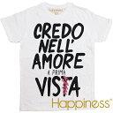 Happiness ハピネス 2016年春夏新作 ハピネス ユニセックス 半袖 Tシャツ <CREDO NELL'>
