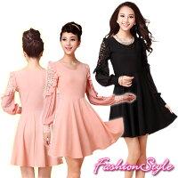 ☆133002ワンピースドレス☆,青色,ピンク,黒色,ドレス