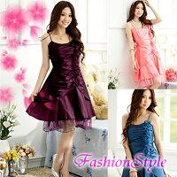 ☆1179ワンピースドレス☆紫,ピンク,青,ブルー,色違い,ステージ衣装,ドレス