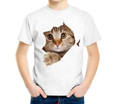 【送料無料】キッズ Tシャツ 子供 子供服 男の子 女の子 かわいい トップス イラスト ねこ ネコ グッズ 雑貨 ファッション