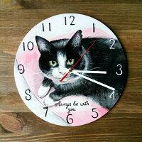 猫の壁掛け時計