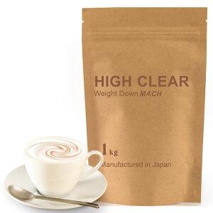 HIGHCLEARハイクリアーウェイトダウンマッハプロテイン1kg(約40回分)本格カフェオレ味HID001