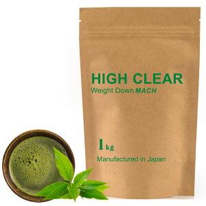 HIGHCLEARハイクリアーウェイトダウンマッハプロテイン1kg(約40回分)本格抹茶味HID002