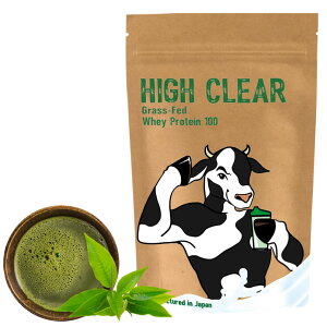 HIGHCLEARハイクリアーWPCホエイグラスフェッド乳酸菌500億個プロテイン1kg(約33回分)抹茶味乳酸菌&ステビアHIG003
