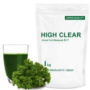 HIGHCLEARハイクリアーWPCホエイグラスフェッド乳酸菌100億個プロテイン1kg(約40回分)青汁味HIG004