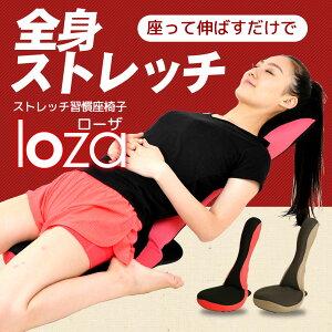ストレッチポール骨盤クッション座椅子の1台3役ストレッチ習慣座椅子「loza」ダイット器具ダイエットクッション【メッシュタイプ】