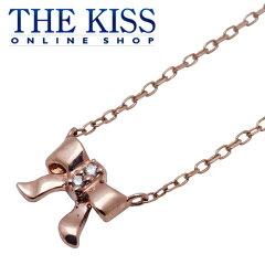 【代引不可】【送料無料】【THE KISS sweets】K10ピンクゴールドネックレス 40cm (ダイヤモン...