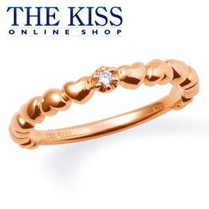 【代引不可】【送料無料】【THE KISS sweets】 K10ピンクゴールド ダイヤモンド ハート レディース ピンキーリング ☆ ダイヤモンド ゴールド レディース リング 指輪 ブランド Diamond GOLD Ladies Ring 【楽ギフ_包装】