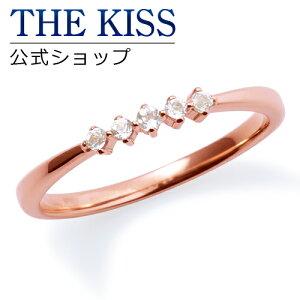 【】【送料無料】【THEKISSsweets】【ペアリング】K10ピンクゴールドホワイトトパーズレディースリング(レディース単品)☆ゴールドペアリング指輪ブランドGOLDPairRingcouple【_包装】