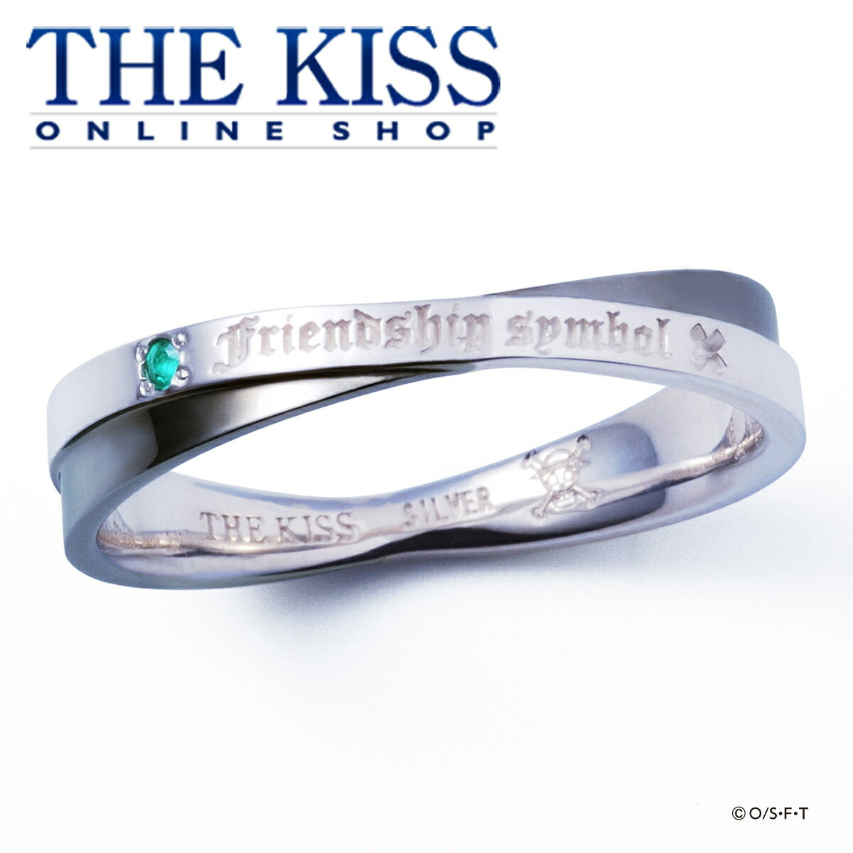 ペアアクセサリー, ペアリング ONE PIECE Ver. THE KISS - SILVER Pair Ring couple
