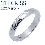 【送料無料】【THE KISS】 ダイヤモンド 手彫り ユニセックス シルバーペアリング (レディース・メンズ単品)