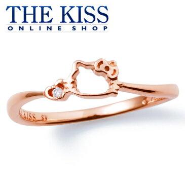 【あす楽対応】【送料無料】【ハローキティ×THE KISSコラボ】キティ PGコーティング レディースリング☆ シルバ- レディース リング 指輪 ブランド ☆ SILVER Ladies Ring couple