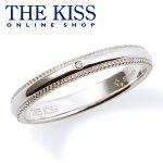 【THE KISS】【Premium Silver】シンプル ダイヤモンド レディース シルバーリング (レディース単品)