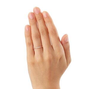 【】【送料無料】【THEKISSsweets】【ペアリング】K10ピンクゴールドホワイトトパーズレディースリング(レディース単品)☆ゴールドペアリング指輪ブランドGOLDPairRingcouple