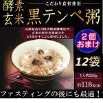 【ファストザイム酵素農法】 12袋と2袋おまけ!! 酵素玄米 黒テンペ粥