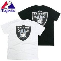 【合計5000円以上送料無料】Majestic(マジェスティック)レイダース Tシャツ バックプリント ...
