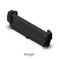 オムロン XG4M-3430-U フラットケーブル用MILコネクタ・MILタイプソケット MILタイプソケットロック付きコネクタ ソケット(オープンエンドカバー付き)+ストレインリリーフセット(ロック付き) 34極画像