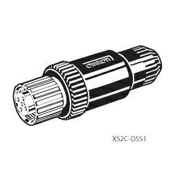 オムロン XS2C-D5S1 丸型防水コネクタ(M12) XS2C 組立式コネクタ ソケット(ねじ結線タイプ) ストレートタイプ(DC用) 5極 適合ケーブル外径φ6用
