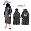 ブラック ロング レインコート スタリッシュ 男女兼用 メンズ レディース 大きめ おしゃれ かっこいい かっぱ 雨具 レインウェア フェス アウトドア GTLINE Favolic ファボリック・・・