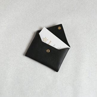 CINQカードケースブラックグレー